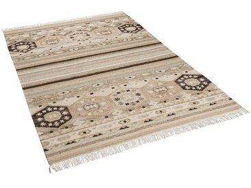 THEKO Wollteppich »Natur Teppich Kelim Sumak Modern«, Rechteckig, Höhe 10 mm