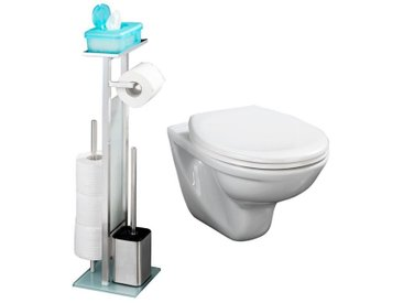 Wenko WC-Hygiene-Center mit 5 Jahren Garantie, silberfarben, silberfarben