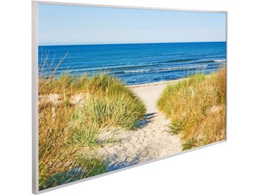 Papermoon Infrarotheizung »Dünen Strandweg«, Aluminium, 600 W, 100x60 cm, mit Rahmen