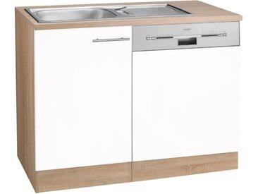 OPTIFIT Spülenschrank »Kalmar«, mit Tür/Sockel für Geschirrspüler, weiß, weiß