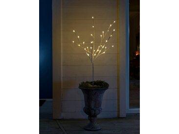 KONSTSMIDE LED Lichterzweig, mit Glimmereffekt, weiß, Lichtquelle bernsteinfarben, Weiß