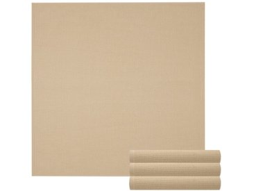 Lashuma Handtuch Set »Pure« (Set, 4-tlg), Geschirrtuch 4er Set, Küchentücher Waffelpique 50 x 50 cm, braun, cappuccino