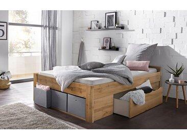 rauch ORANGE Bett »Scala«, mit Schubkästen in 3 Varianten, braun, Mit 2 Schubkästen und Boxen, eichefarben Wotan