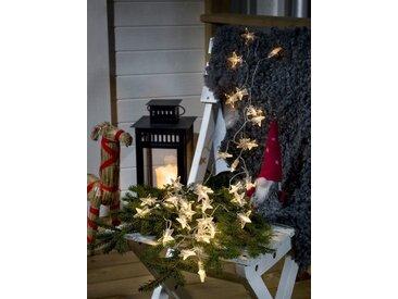 KONSTSMIDE LED Dekolichterkette, Sterne, weiß, Lichtquelle warm-weiß, Transparent