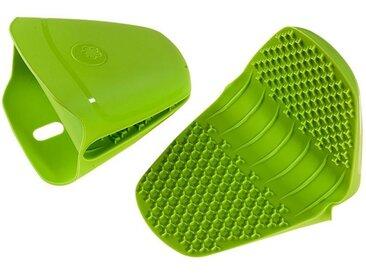 Kochblume Topfhandschuhe »Thermo-Fingerschutz«, (2-tlg), Hitzebeständig bis 230°, grün, limette