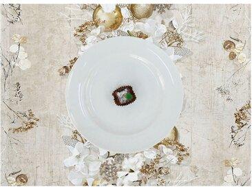 APELT Platzset »3621 Christmas Elegance« (Set 2-tlg), Digitaldruck, weiß, creme-weiß-natur-goldfarben