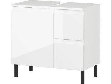 GERMANIA Waschbeckenunterschrank »Scantic« Breite 60 cm, Badezimmerschrank, verstellbarer Einlegeboden, Türdämpfung, grifflose Optik, MDF-Fronten