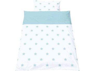Pinolino® Babybettwäsche »Sternchen«, mit kleinen Sternen, weiß, hellblau