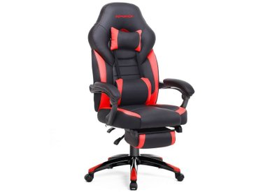 SONGMICS Gaming Chair »OBG77BG OBG77BU OBG77BR« Gamingstuhl, Bürostuhl, Schreibtischstuhl, schwarz-Rot, rot, rot