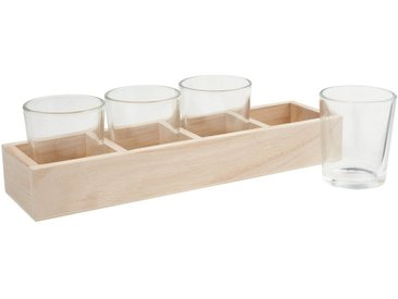 VBS Teelichthalter »Holzbox« (5 Stück), 25,5 cm x 6,5 cm x 3,5 cm