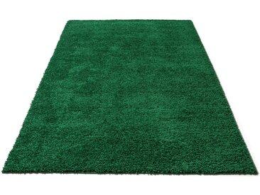 Home affaire Hochflor-Teppich »Shaggy 30«, rechteckig, Höhe 30 mm, grün, dunkelgrün