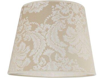 Licht-Erlebnisse Lampenschirm »WILLOW Stoff Lampenschirm Weiß Barock Muster E27 Stehleuchte Lampe«