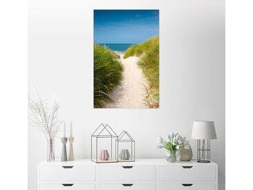 Posterlounge Wandbild, Strandaufgang durch die Dünen, Leinwandbild
