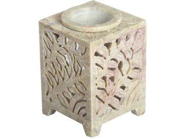 Casa Moro Duftlampe »Orientalische Duftlampe Shiva-4 aus Soapstone geschnitzt 8x8x11 cm (B/T/H) ätherisches Öl Diffusor, Teelicht-Halter für Aromatherapie