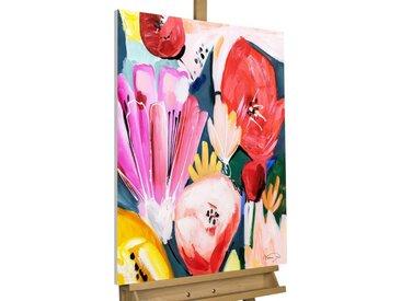 KUNSTLOFT Gemälde »Das Reich der Flora«, handgemaltes Bild auf Leinwand