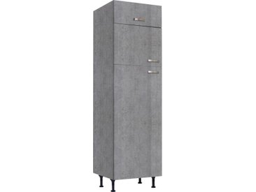 Kühlumbauschrank »Cara« für Kühl-/Gefrierkombination, grau, Beton-Optik