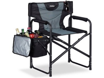relaxdays Campingstuhl »Regiestuhl gepolstert mit Kühltasche«