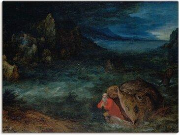 Artland Wandbild »Jona entsteigt dem Walfisch«, Religion (1 Stück), in vielen Größen & Produktarten -Leinwandbild, Poster, Wandaufkleber / Wandtattoo auch für Badezimmer geeignet