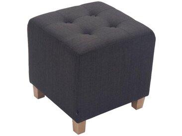 CLP Sitzwürfel »Pharao Stoff«, mit hochwertiger Polsterung, grau, dunkelgrau