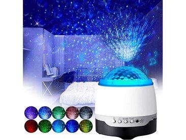 vokarala Nachtlicht, Sternenlicht Projektor, Sternenhimmel Projektor,Ocean Wave Projektionslampe mit Bluetooth Lautsprecher
