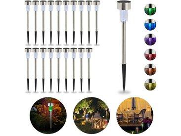 relaxdays Gartenleuchte »20 x LED Solarleuchte Farbwechsel«