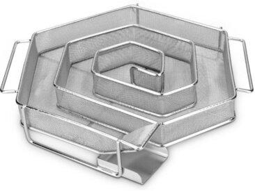 Navaris Räucherbox Kaltrauchgenerator aus Edelstahl - 21x18x4cm - Spiral Form Sparbrand Kaltraucherzeuger für Räucherofen - Kaltrauch Smoker Raucherzeuger