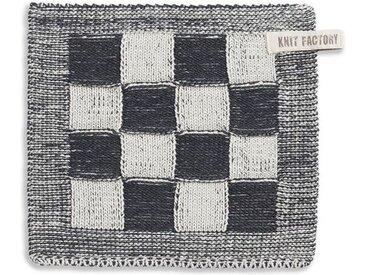 Knit Factory Tischdecke »Topflappen Block Ecru/Anthrazit«