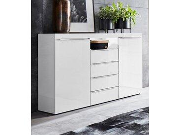 borchardt Möbel Highboard »DURBAN«, Breite 139 cm, weiß, weiß Hochglanz