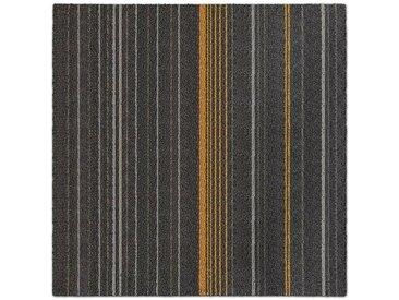 Kubus Teppichfliese »Sarajevo«, Quadratisch, Höhe 5.5 mm, Selbstliegend, schwarz, Anthrazit 02
