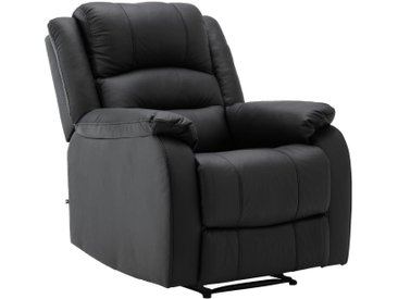 CLP Multimediasessel »Kerpen«, Ruhesessel mit Liegefunktion mit Armlehnen ergonomische Sitzposition, schwarz, schwarz