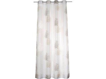 Kutti Vorhang »Belinda«, Ösen (1 Stück), grau, taupe-grau