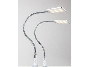 kalb Bettleuchte » 4W LED Bettleuchte Leseleuchte Flexleuchte Nachttischlampe Bettlampe Leselampe«, 2er Set chrom