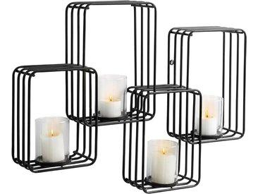 Places of Style Wandkerzenhalter, Kerzen-Wandleuchter, Kerzenhalter, Kerzenleuchter hängend, Wanddeko, für 4 Kerzen