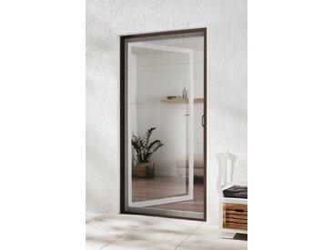 hecht international HECHT Insektenschutz-Tür braun/anthrazit, BxH: 125x220 cm, grau, Türen, 125 cm x 220 cm, anthrazit