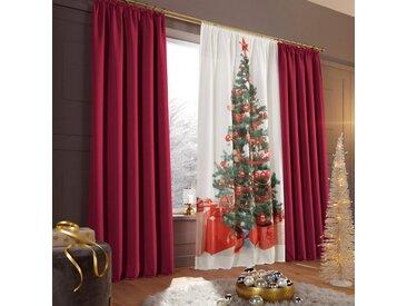 my home Verdunkelungsvorhang »Sola«, Kräuselband (1 Stück), Breite 130 cm und 270 cm, rot, burgund