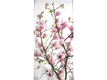 Juniqe Handtuch »Magnolia Pink 2« (1-St), Weiche Frottee-Veloursqualität