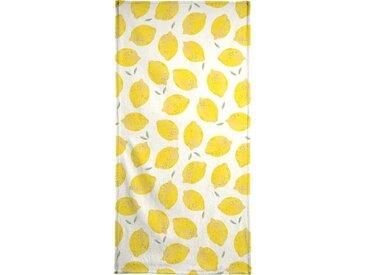 Juniqe Strandtuch »Lemon« (1-St), Weiche Frottee-Veloursqualität