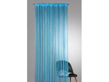 Weckbrodt Fadenvorhang »Rebecca«, Stangendurchzug (1 Stück), blau, blau-uni