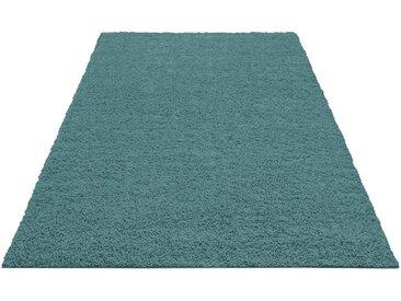 Home affaire Hochflor-Teppich »Shaggy 30«, rechteckig, Höhe 30 mm, blau, aquamarin