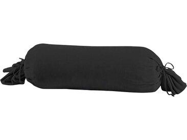 Schlafgut Nackenrollenbezug »Nelke«, (1 Stück), mit Kordel zum verschließen, schwarz, schwarz