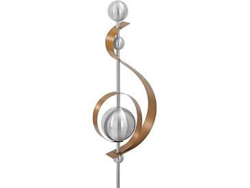 Dehner Gartenstecker »Skulptur Klefo, 67 x 19 x 10 cm, Edelstahl«, braun, Kupfer