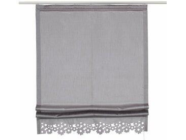 my home Raffrollo »Venedig«, mit Klettband, grau, grau