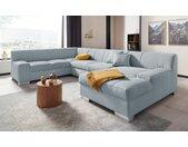 DOMO collection Wohnlandschaft »Bero«, blau, ohne Bettfunktion, lichtblau