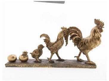 Clayre & Eef Tierfigur » Dekoration Hahn Antik Gold 35*7*18«