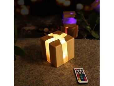 ZMH LED Nachtlicht »Nachtlicht Nachttischlampe Holz Dimmbar mit Fernbedienung farbwechsel 13 RGB 3W Nachtlampe Kinder Stimmungslicht Tischleuchte«