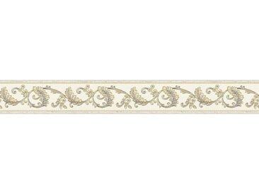 A.S. Création Bordüre »Only Borders«, strukturiert, Barock, barock, floral, selbstklebend, goldfarben, creme-gold-grau