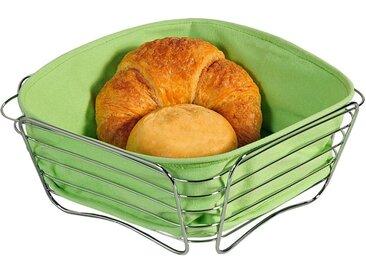 KESPER for kitchen & home Brotkorb, Metall, Baumwolle, (1-tlg), vielseitig einsetzbar, grün, apfelgrün-silberfarben