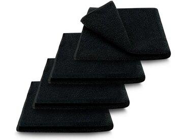 ARLI Gästehandtücher »Gästetuch 30 x 50 cm Gästetücher Handtuch 100% Baumwolle hochwertige Frottier klassischer Design elegant schlicht modern praktisch mit Handtuchaufhänger« (4-St), schwarz