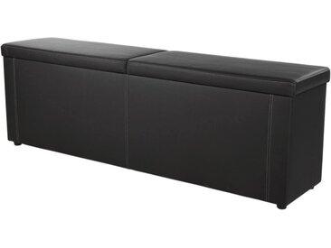 Jockenhöfer Gruppe Bettbank, in 2 Breiten, inkl. Stauraum, schwarz, schwarz 440/16
