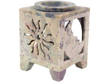 Guru-Shop Duftlampe »Indische Duftlampe, ätherisches Öl Diffusor,..«, Würfel Sonne & Mond